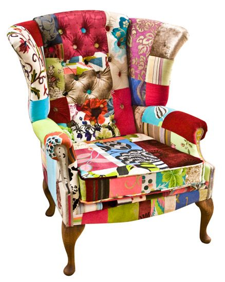 Upcycled Vintage Patchwork Armchair