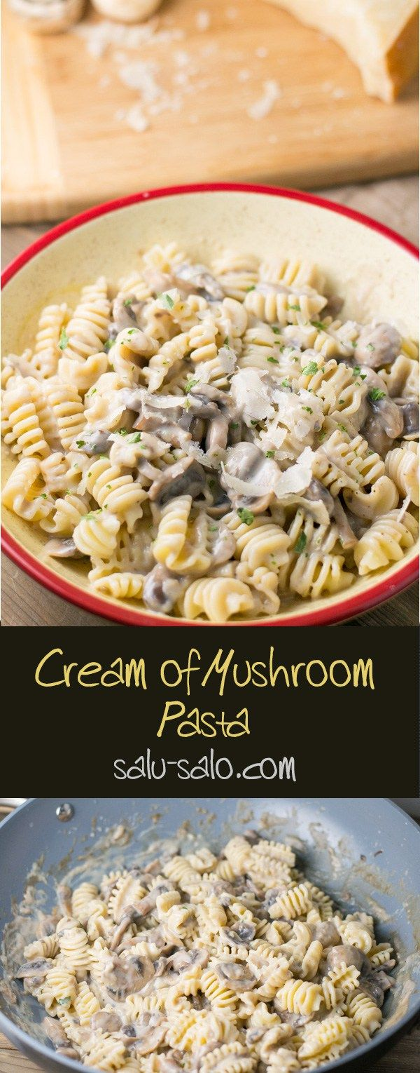Cream Of Mushroom Pasta Salu Salo Recipes Recipe Creamed Mushrooms Stuffed Mushrooms Mushroom Recipes Pasta