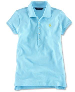 a8e6477e Big Girls Stretch Mesh Polo Shirt   Products   Polo, Polo ralph ...