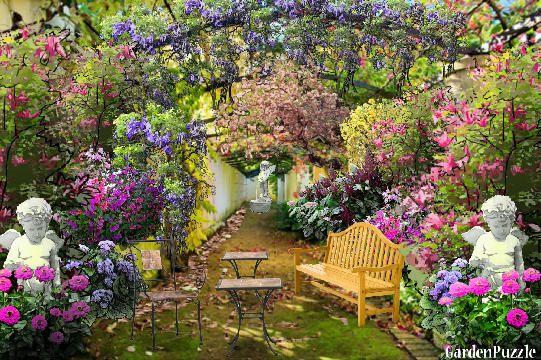 Italian courtyard redesign gardenpuzzle online garden for Redesign my garden
