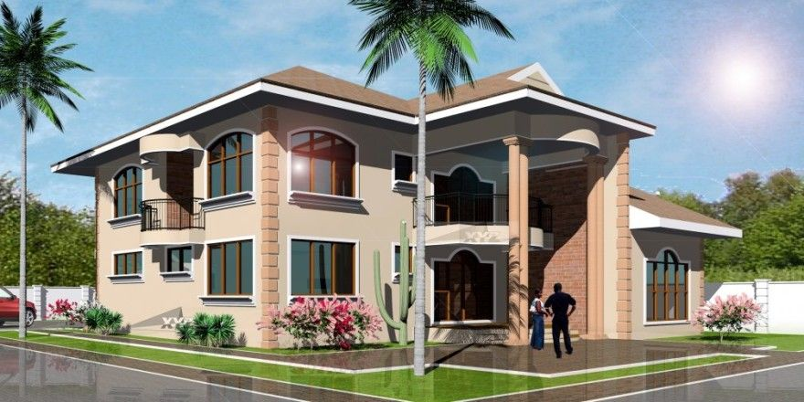 Dream Home Design Plan For Ghana And All Africa Countries Two Story House Design Double Story House One Bedroom House Plans Modern house plan ghana