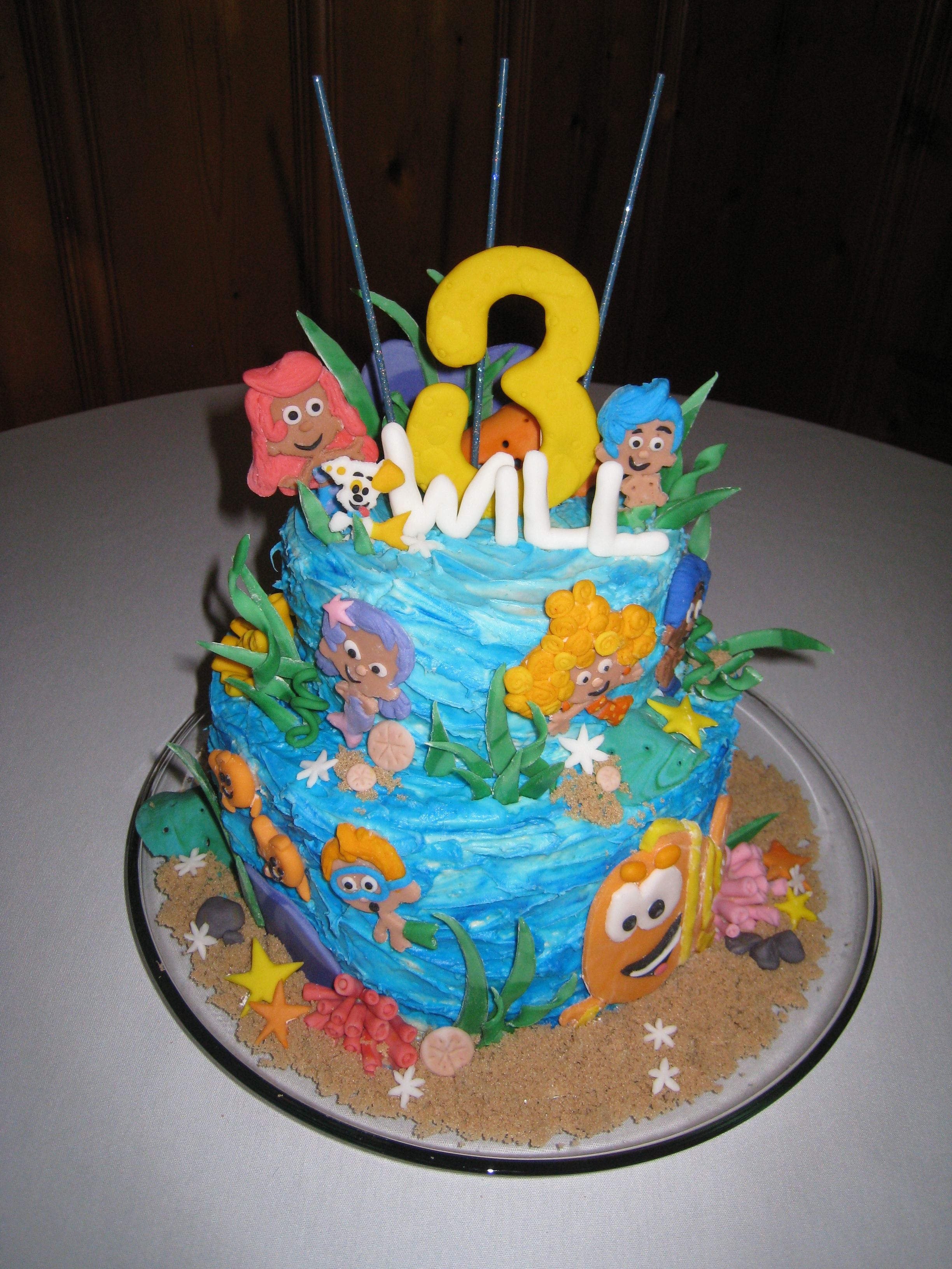 bubble guppies cake thank you for looking at my cake it was a