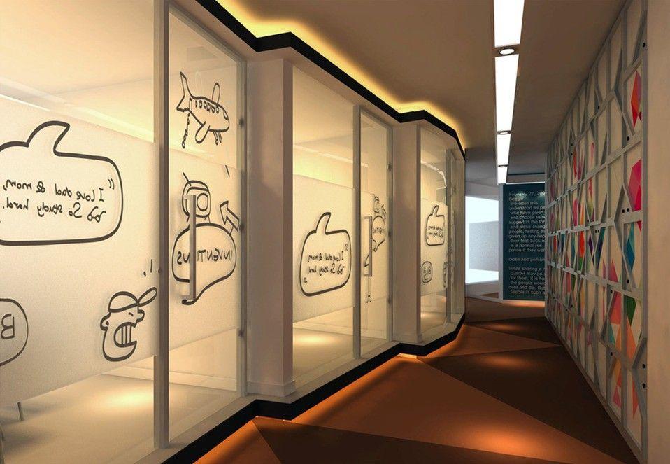 Art-institutions-corridor-design-with-graffiti-wall.jpg (958×663 ...