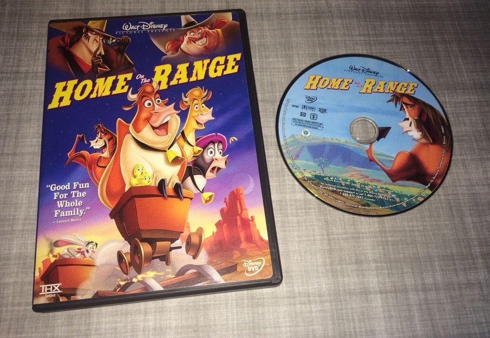 Disney Home On The Range Dvd 2004 Free Shipping Disney Home Home On The Range Kids Movies