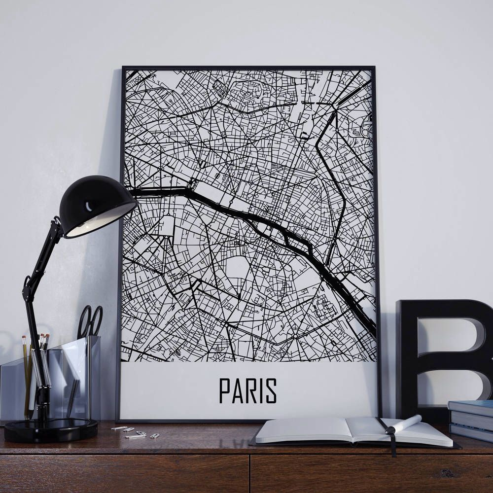 paris map paris travel map paris street map paris city map paris map poster paris map