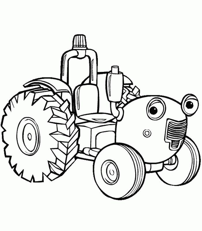 free printable tractor coloring pages for kids - Tractor Coloring Pages
