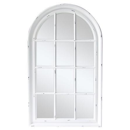 White Arch Window Mirror Arch Mirror Arched Window Mirror Hall Mirrors