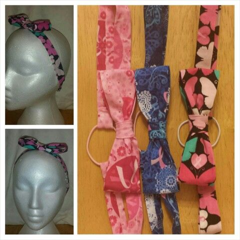 Breast Cancer Bow Headbands www.mkt.com/candyjboutique