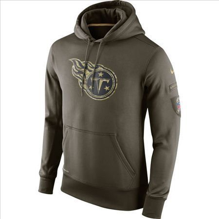 super popular 4f3ac 75799 Nike Tennessee Titans Army Green Salute To Service Hoodie ...