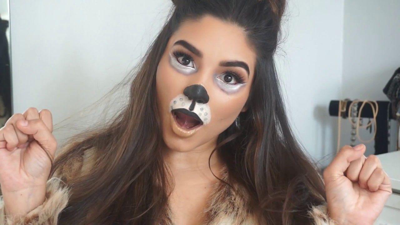 Dog Halloween Makeup.Puppy Halloween Makeup Cute Easy Costume Youtube Halloween Makeup For Kids Dog Makeup Halloween Makeup