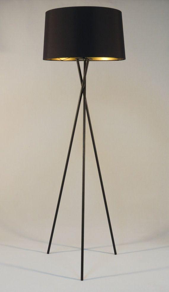 Handmade Tripod Floor Lamp With Black Colored By Dyankoffshop Modern Floor Lamps Floor Lamp Shades Floor Lamp Bedroom Black contemporary floor lamp