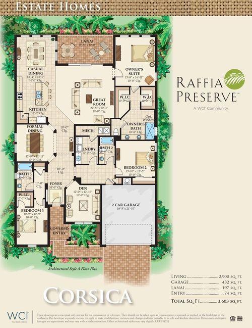 Raffia Preserve Naples Florida Real Estate Florida Real Estate Floor Plans Naples