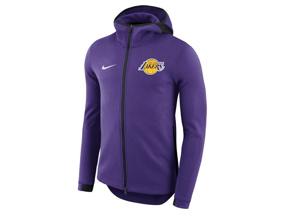 Los Angeles Lakers Nike Nba Men S Dry Showtime Full Zip Hoodie Nike West Hoodies Nike Men