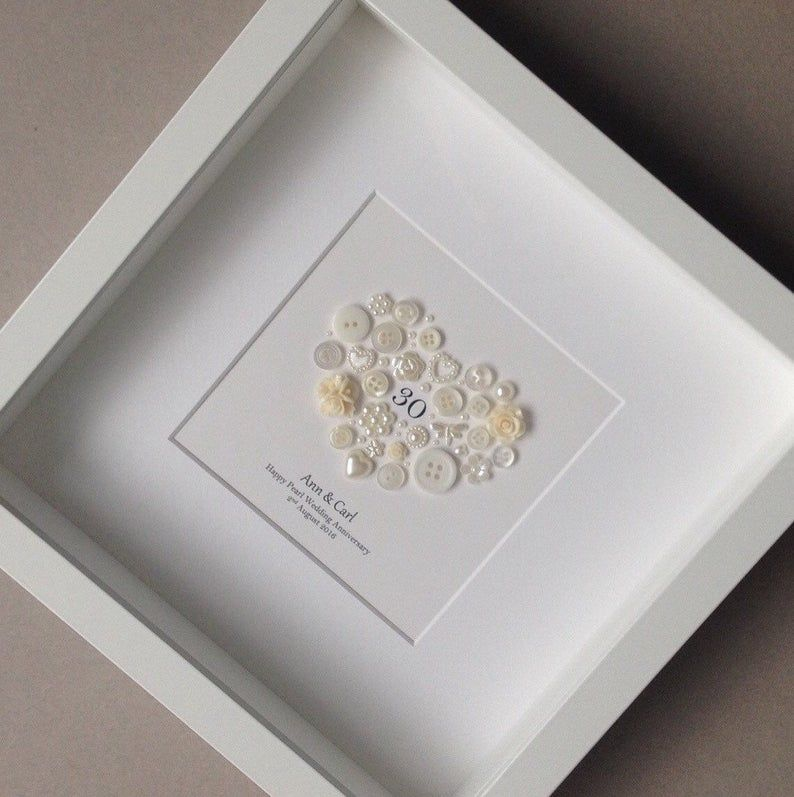 30th Anniversary Gift Pearl Wedding Anniversary 30th