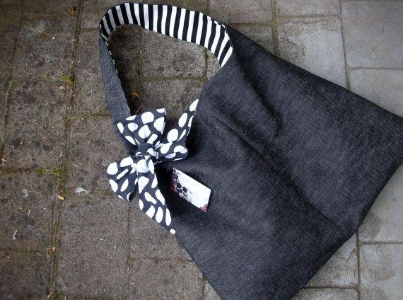 Purse - Handbag - Tote Bag - Market Bag- Book Bag - XL Bag - Canvas Bag - School Bag - Library Bag - Handmade Tote Bag. $24.95, via Etsy.