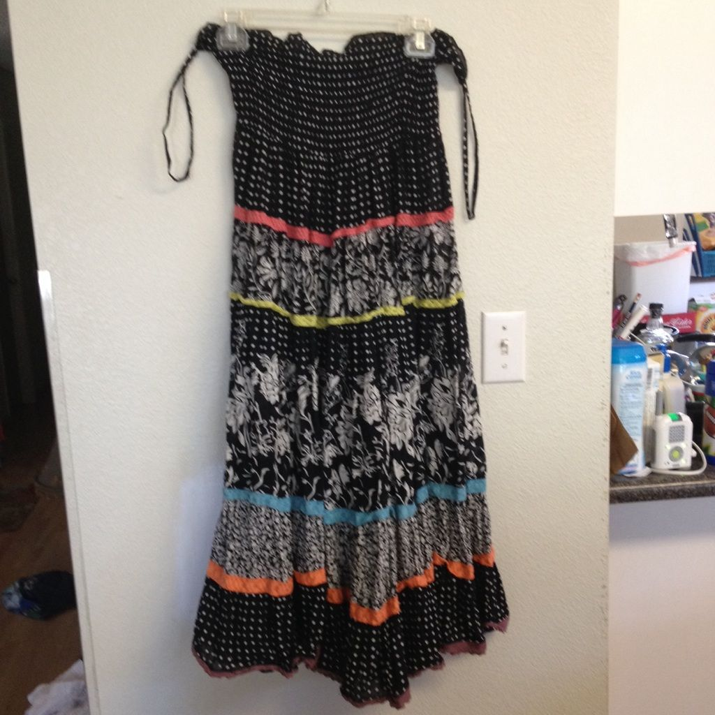 Colorful tube top dress tube top dress and products
