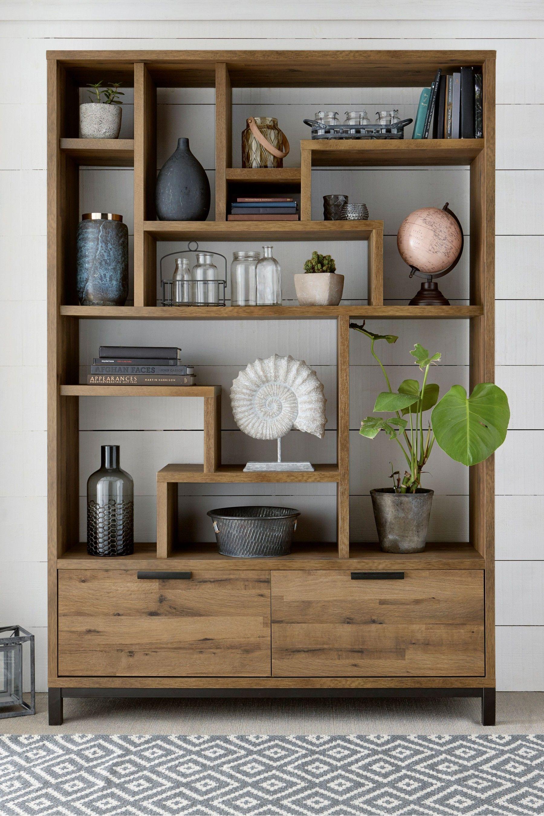 next bronx display shelf  natural  shelving unit