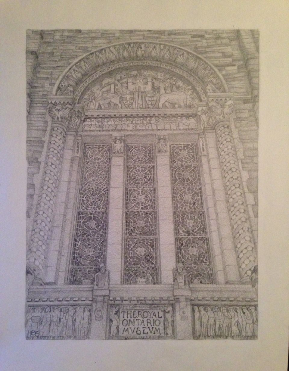 Intricate Details In Drawing Of Royal
