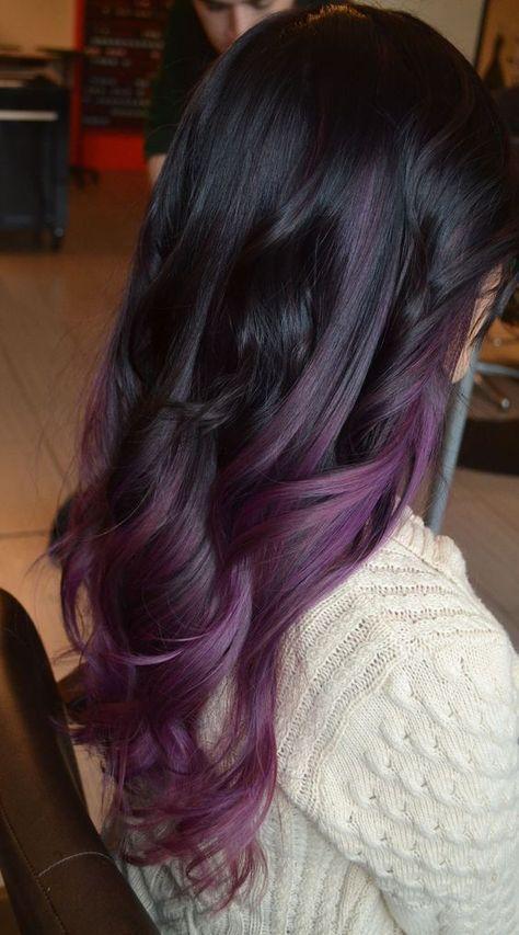 Purple Balayage Hair On Black Hair Hair Ideas Pinterest Purple