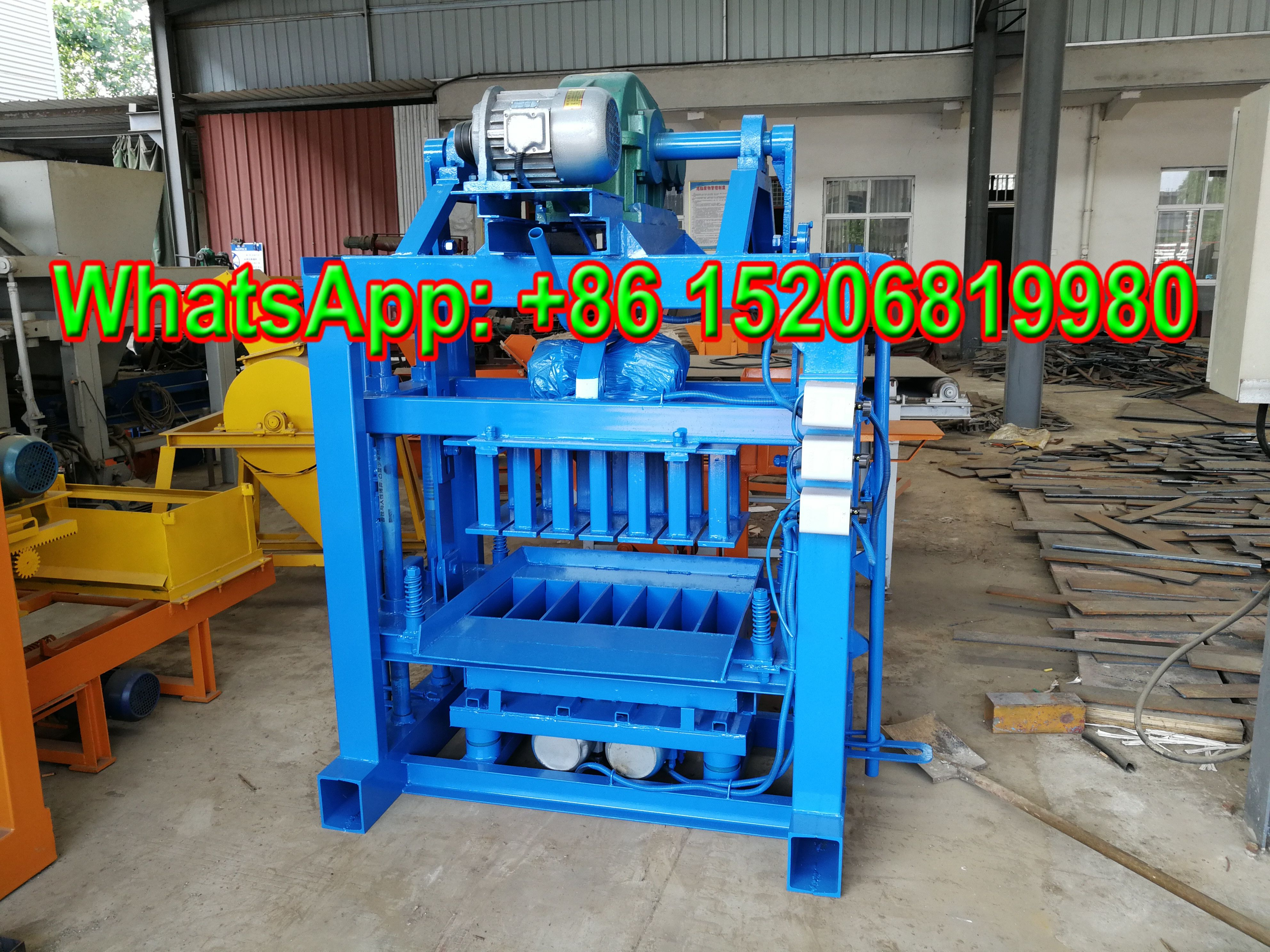 Giantlin Qt40 2 Manual Concrete Block Machine For Sale With Low Price Hollow Block Cement Solid Brick Interlocking Interlocking Pavers Concrete Solid Brick