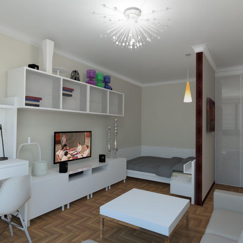 фото интерьер однокомнатной квартиры 36 кв.м