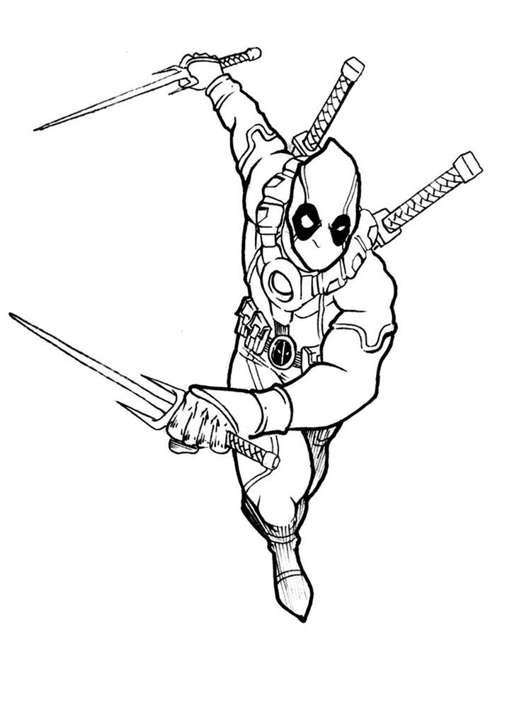 Deadpool 2 Coloring Pages Below Is A Collection Of Deadpool Coloring Page Which You Can Download For Free Coloring Pages Marvel Coloring Free Coloring Pages