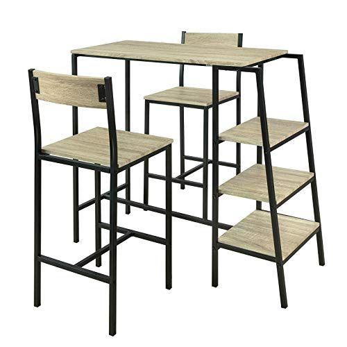Sobuy Ogt16 N Set De 1 Table 2 Chaises Ensemble Table De