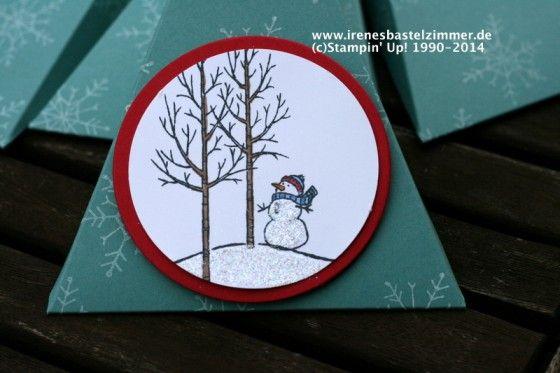 Dreieckschachtel-weiße Weihnacht-stampin' Up!