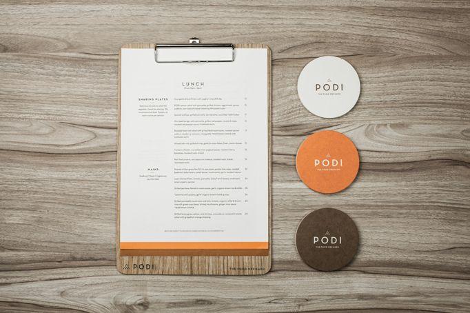 Art Of The Menu Podi The Food Orchard Menu Design Inspiration Corporate Identity Design Brand Identity Design