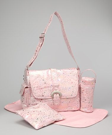 Take A Look At This Pink Soap Bubbles Laminated Buckle Diaper Bag By Kalencom On Zulily Today 29 99 Regular 80 00