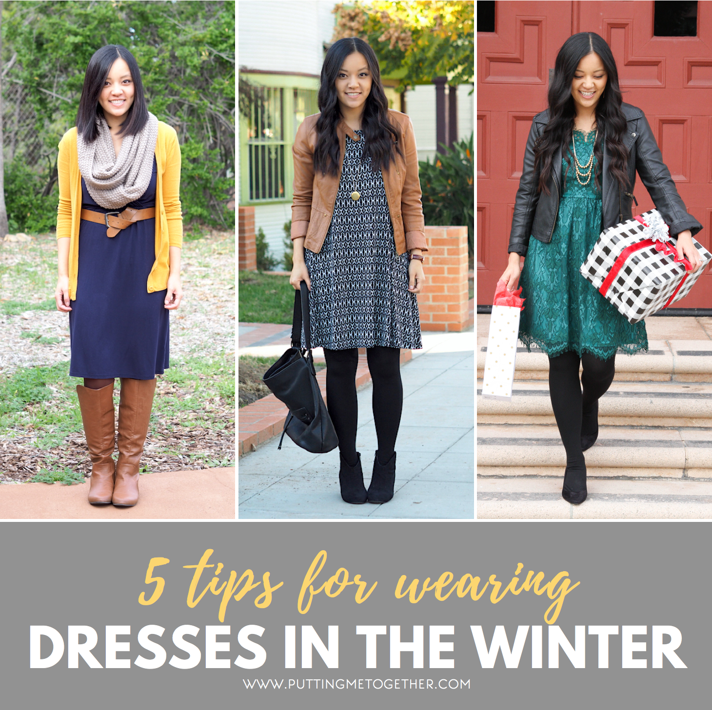 5 Tips For Making Your Dresses Warmer In The Winter Cold Weather Dresses Winter Business Outfits Cold Weather Outfits [ 1457 x 1460 Pixel ]