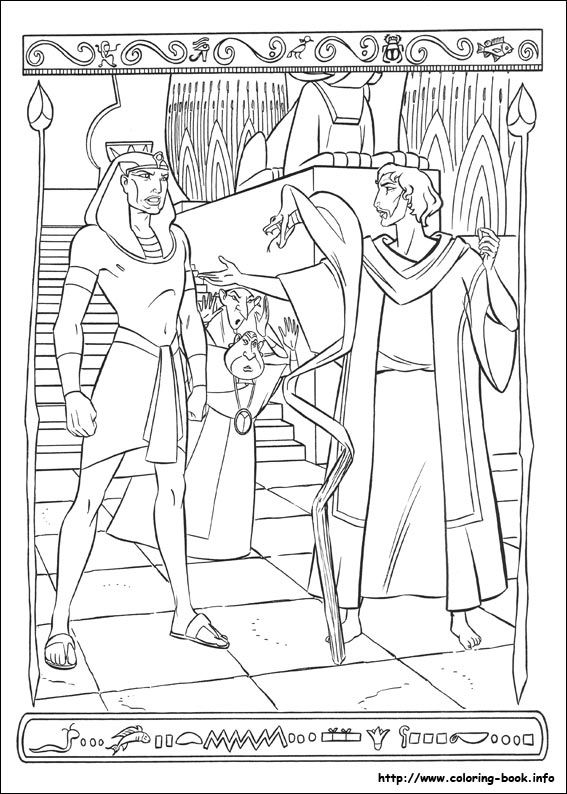 The prince of egypt coloring picture birthday party Coloring book for adults egypt