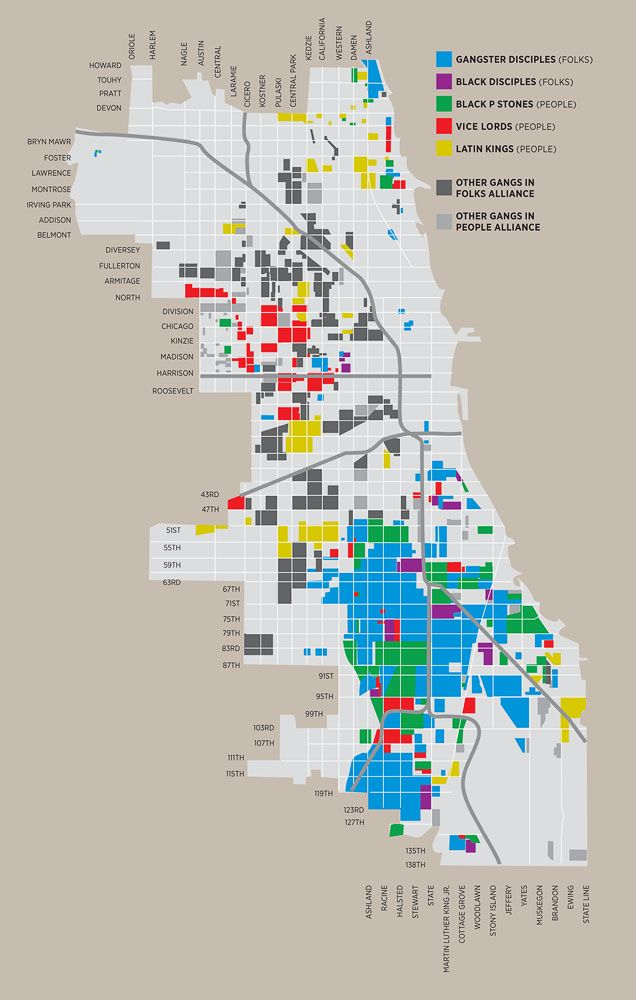 Chicago Gangs Map Gangs and Politicians: Map of Chicago Gangs | tha streetz iz