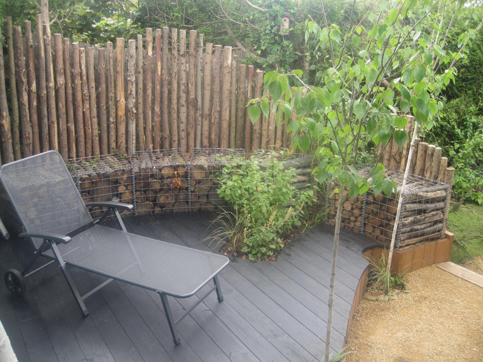 Timber filled gabion walls gabion ideas pinterest for Gabion landscaping