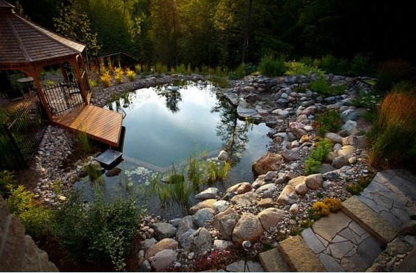 Everyone will love to have such a beautiful #natural #pool in their #outdoors.