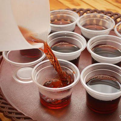 Rum & Coke Jello Shots Recipe - (4.2/5) #halloweenjelloshots