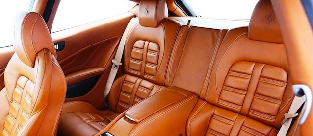 Ferrari leather interior