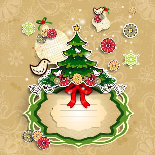 Christmas cute greeting cards design vector 07 - Vector Card free - greeting card templates