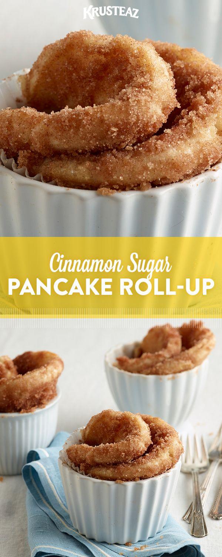 Krusteaz Cinnamon Sugar Roll Up Recipe Recipe Krusteaz Pancake Mix Recipes Pancake Mix Recipes Pancake Mix Recipe