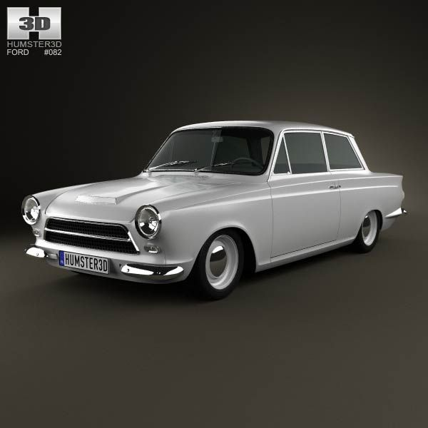 ford lotus cortina mk1 1963 3d model from humster3dcom price 75