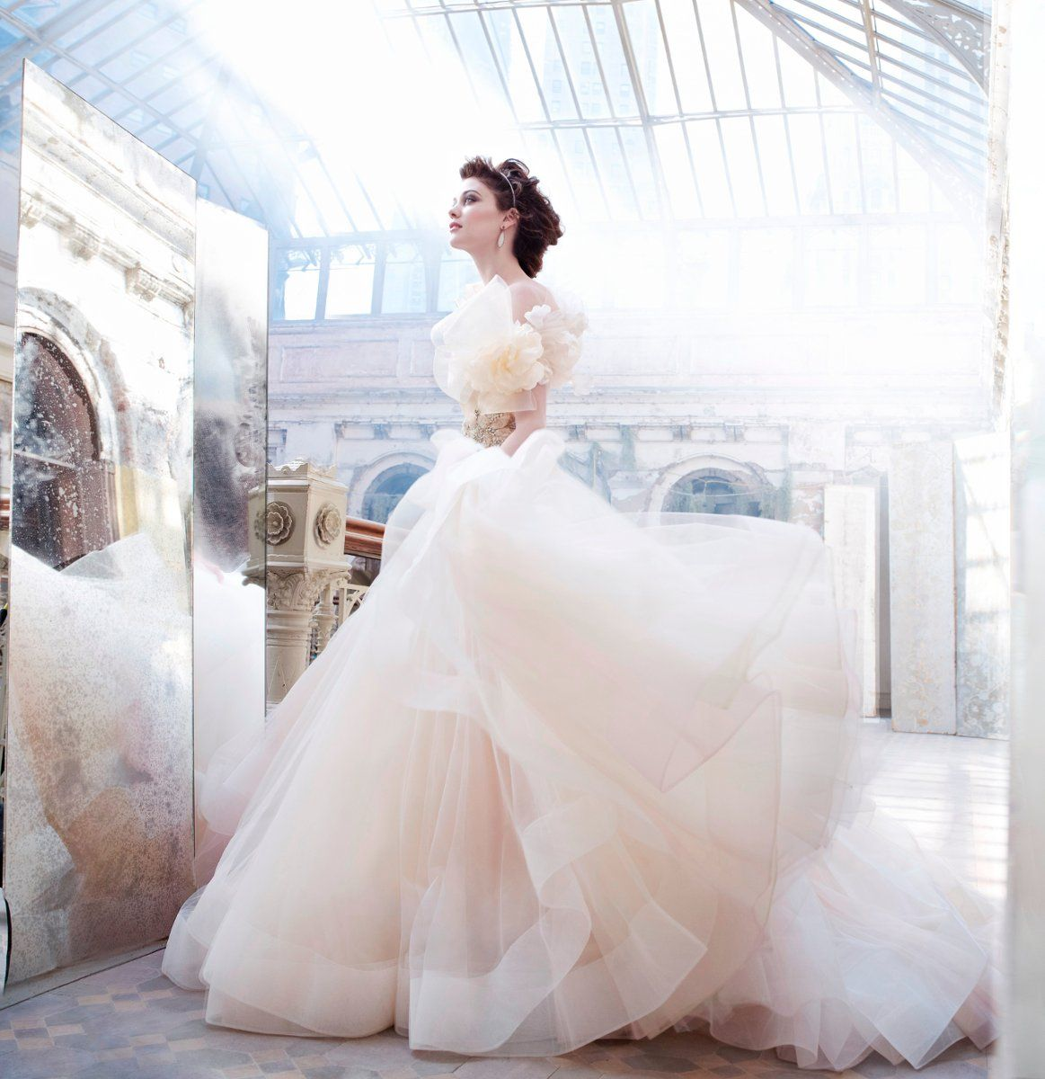 A-Line: Marvelous Lazaro Wedding Dresses Silhouette Collection ...
