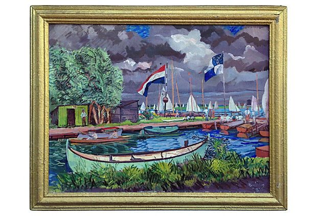 Dutch Regatta  by Hermann Bieling, 1932 on OneKingsLane.com