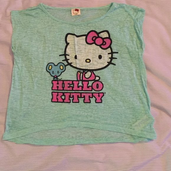 2e737dc10 hello kitty top mint green hello kitty top. GIRLS size x large but this can  fit a women size small Hello Kitty Tops