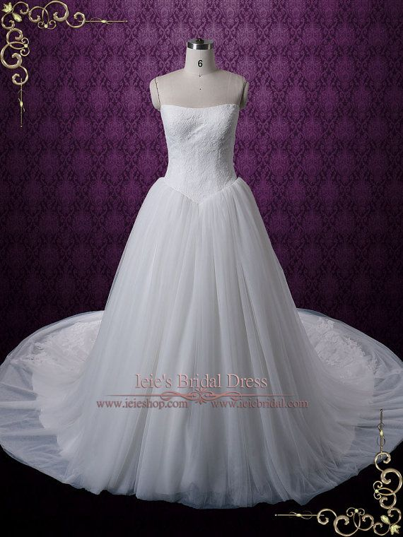 Timeless Tulle Ball Gown Wedding Dress with French Lace | Lace ...