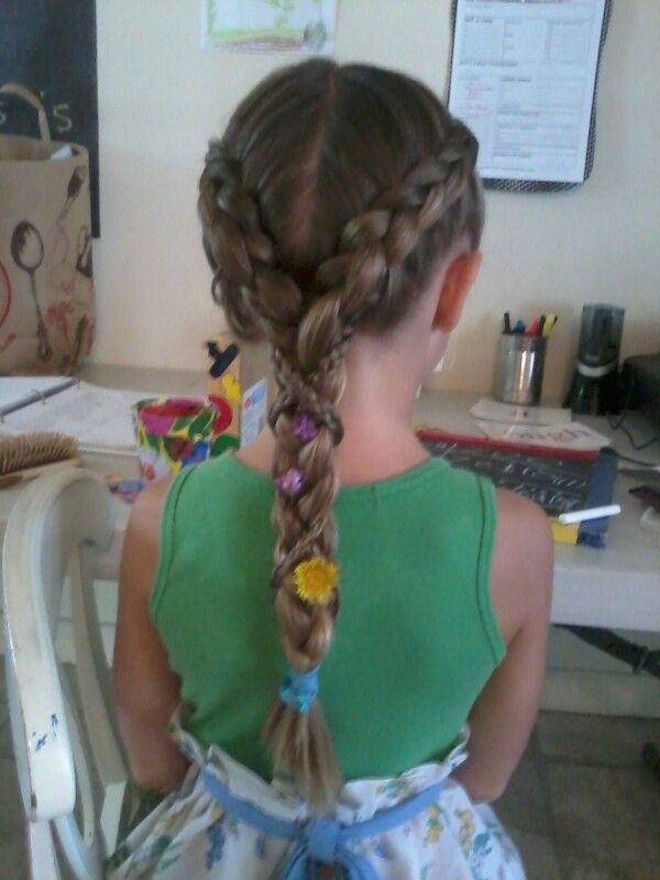 Cute Girl Hairstyles Rapunzel Braid Inspired By Tangled Hair Styles Kids Hairstyles Little Girl Hairstyles