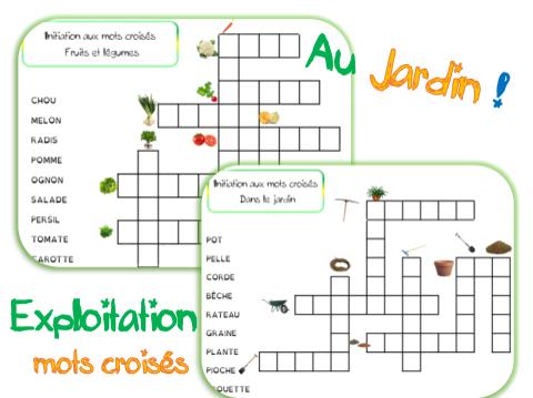 Mots croisés : dans le jardin et les légumes | français ...