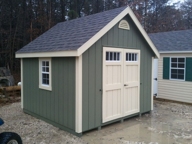 This Is 10 X 10 I Want To Build 10 X 12 For The Garden Shed With Double Doors On One Gable End Like These Maybe Building A Shed Diy Shed Plans Shed Design