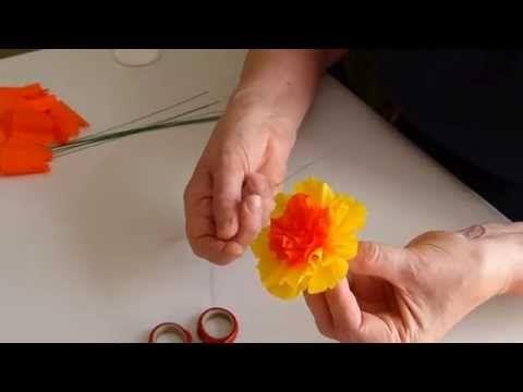 Kwiat Do Palmy I Instruktaz How To Make Rose Crafts Easter