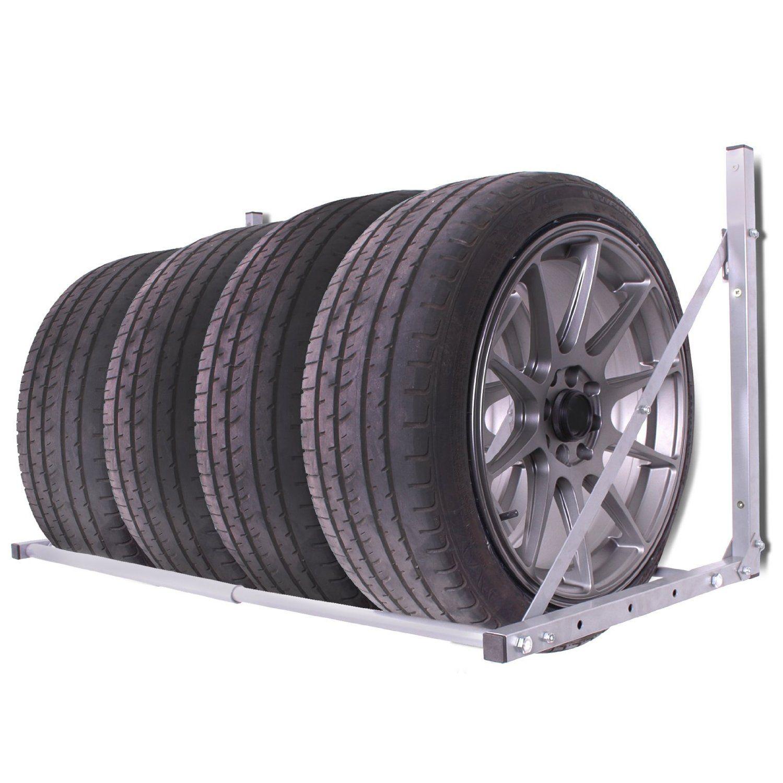 Car Garage Workshop Folding Wall Mount Spare Tyre Hanger Wheel Storage Rack Loft Shelving Shelf Racking Unit  sc 1 st  Pinterest & HOME GARAGE WORKSHOP FOLDING WALL MOUNT TYRE STORAGE RACK LOFT ...