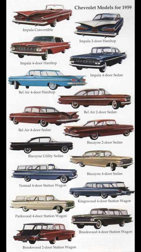 Chevrolet Models For 1959 Classic Cars Trucks Automobile